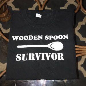 Funny black XL cotton T-shirt